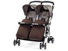 Коляска для двойни Peg-Perego Aria Twin JU47-PX47, Chocolate (Пег Перего)