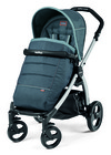 Коляска Peg-Perego 3 в 1 Book Plus silver Modular ELITE Blue Denim  (Пег Перего)